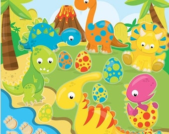 80% OFF SALE dinosaur clipart commercial use, dinosaurs vector graphics, prehistoric digital clip art, digital images  - CL969
