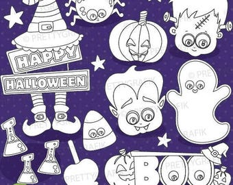 80% OFF SALE Halloween props digital stamp commercial use, vector graphics, digital stamp, digital images - DS919