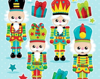 80% OFF SALE Nutcracker clipart commercial use, Christmas clipart vector graphics, christmas nutcracker digital clip art, christmas CL1041