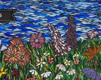 Spring Meadow by Kory Dollar of Marvelous Mosaic Sun-catcher