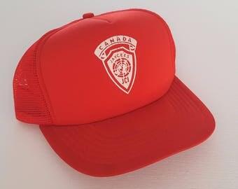 Vintage Jaycees Canada Trucker Style Snapback Hat VTG