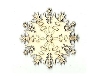 Snowflake - Laser Cut - Unfinished Wood