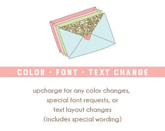 Color, Font or Text Change - Party Kit