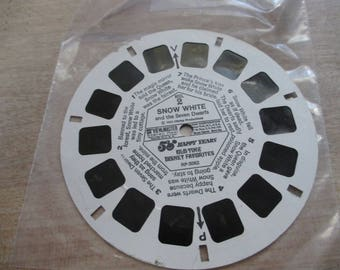 Vintage, Antique Viewmaster reels - Snow White - Reel No. 2 . - No longer produced - from collection of over 100 reels.
