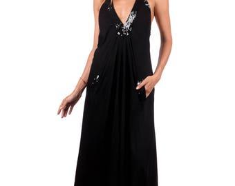 Halter Maxi Dress Black