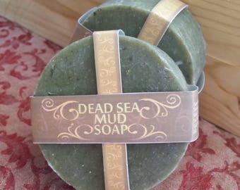 Dead Sea Mud Soap | Complexion Soap | Face Soap | Vegan Soap | Sulfur Soap | Exfoliating | Acne Soap | Oily Skin Soap | Salt Soap |