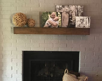 Modern rustic fireplace mantel. 3ft to 8ft long.