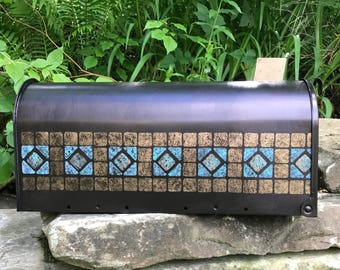 Hand Painted Copper/Bronze Standard size post mailbox