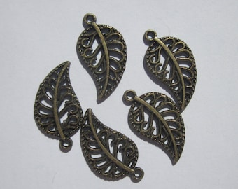 5 charm leaf bronze 18 mm color-(6148)
