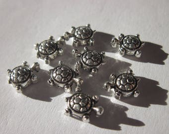6 beads turtle silver 8 mm (17)