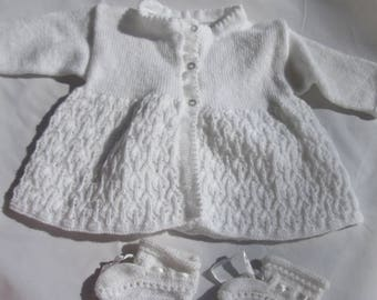 Christening slippers vest made by hand (4)-