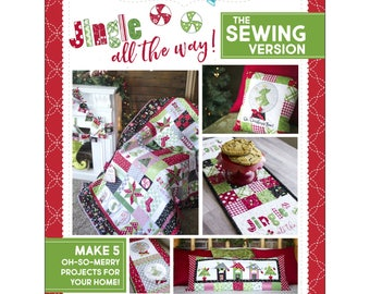 """Book """"Jingle All The Way!"""" The Sewing Version by KimberBell (KID715) Softcover Quilt Craft Book"""