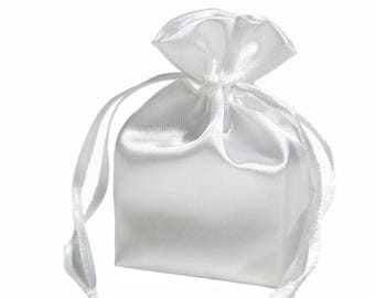 Large White Satin Gift Bag