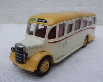 Bus red yellow coach vintage 1993 birthday gift dads fathers limited edition bus model coach mens present vintage collectors diecast bus red