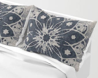 Mandala Pillow Shams - Set of 2 - Mandala Pillows - Matching Duvet Cover Available