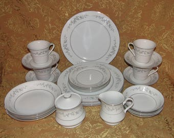 25 Pc Vintage Japan FORGET-ME-NOT Dinner Set Service for 4 - Mint, Tableware, Dining, Dinnerware, Fine China, Dishes (LB3)