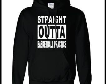 Straight Outta Basketball Practice Hoodie Custom Basketball Apparel