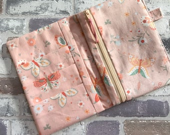 Travellers Notebook B6 Size Zipped pocketed Insert - Ready to Ship