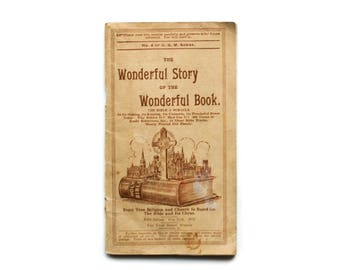 The Wonderful Story of the Wonderful Book   The Bible A Miracle   Fifth Edition 1932   Vintage Booklet   Paperback