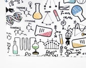 Chemistry Gift Pencil Case, Science Teacher, Chemist Zipper Pouch, Geek Gift, Back to School Supplies
