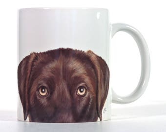 Labrador Retriever, Chocolate Lab Mug, Personalized Chocoloate Lab Gift
