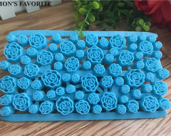 Rose Flower Fondant Embosser Cake Cookie Cutter Imprint Set - H005