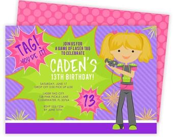 Laser Tag Invitation, Laser Tag Party, Laser Tag Birthday Invitations, Laser Tag Invites, Laser Tag Birthday,Laser Tag,Laser Tag Invite |127