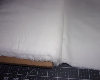 Flannel Fabric, Solid White, 100% Cotton, By the Yard...Quilts, Rag Quilts, Clothing, Crafts