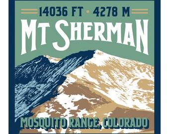 Mt. Sherman Print