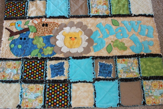 Baby Quilt Baby Quilts Personalized Baby Quilts Rag Quilt : personalized photo quilt - Adamdwight.com