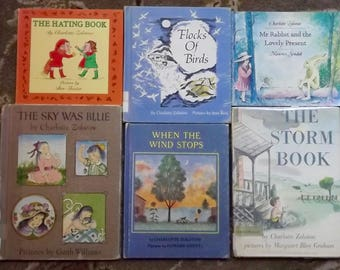 6 Charlotte Zolotow books Flocks of Birds, The Sky was Blue, The Storm Book