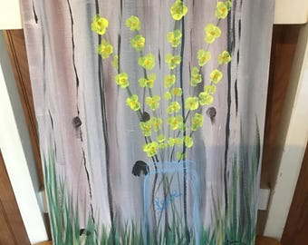 Yellow Flowers Acrylic Painting