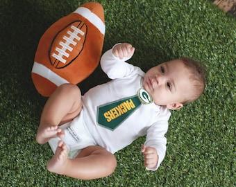 Green Bay Packers Tie Onesie - 6 Month Long Sleeve