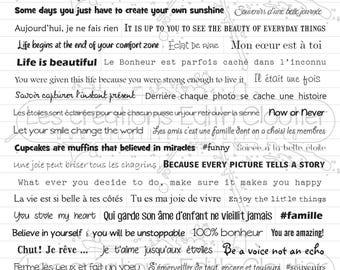 Planche de mots autocollants Passe-Partout 2 NON PRÉDÉCOUPÉS