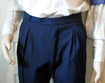 Men's vintage dark blue pants.  Style vintage 194