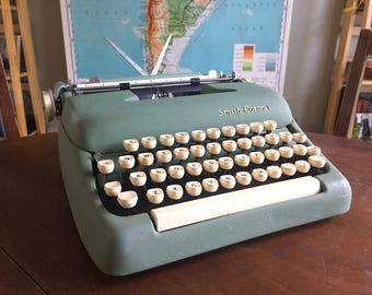 Vintage Smith Corona Sterling Typewriter - Working - Mint Green with Manual and Extra Ribbon