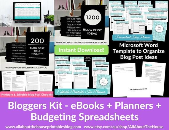Blog post planner organizer tool template resource download ebook il570xn maxwellsz