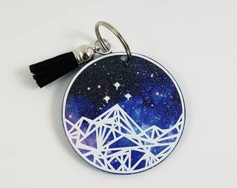 Glitter Night Court Keychain  <More Options Available> <Tassel Sold Separately> <2.5 inches>