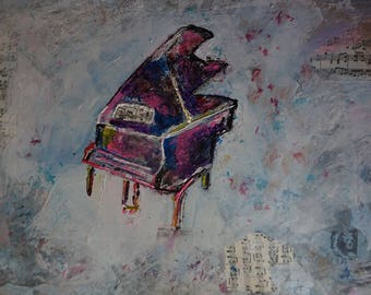 Tableau canvas piano music piano painting canvas