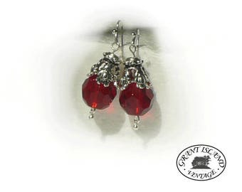 Red Globe Earrings