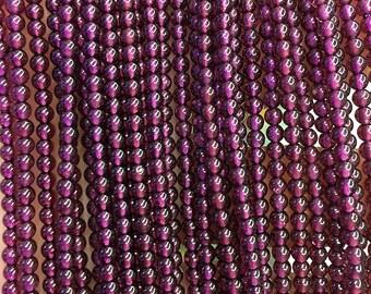 2mm 3mm 4mm Natural Garnet Beads, Red Garnet Gemstone Beads, Smooth Round Stone Beads, 15'' Strand