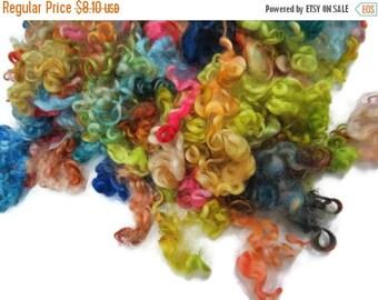 SALE 1oz,Prime Wensleydale wool locks ,First clip, Hand-picked color:Arcadia