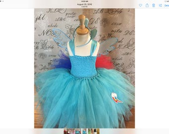 Rainbow dash costume tutu my little pony ready to ship
