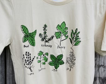 Herb Shirt, Screen printed