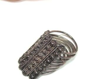 Vintage sterling movable ring Size 7 & 8.28 gram