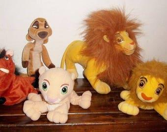 5 Disney's Lion King Bean Bag Plush Simba Nala Timon & Pumbaa