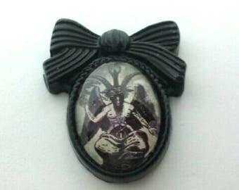 Bow Baphomet Pin Brooch