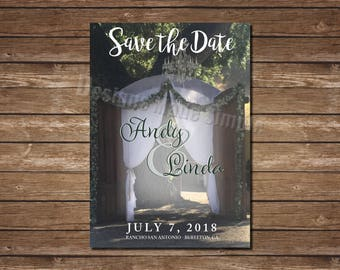 Destination Wedding Save the Date Photo - Printable