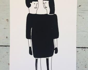 Girls in the same dress