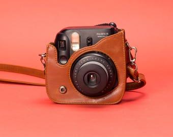 Black Instax Mini 8 w/ Leather Case